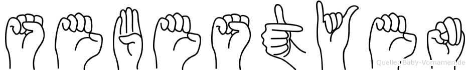Sebestyen im Fingeralphabet der Deutschen Gebärdensprache