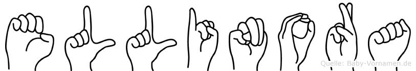 Ellinora im Fingeralphabet der Deutschen Gebärdensprache