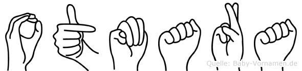 Otmara im Fingeralphabet der Deutschen Gebärdensprache