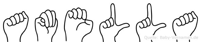 Amella in Fingersprache für Gehörlose