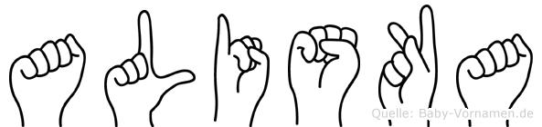 Aliska in Fingersprache für Gehörlose