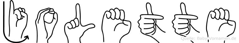 Jolette in Fingersprache für Gehörlose