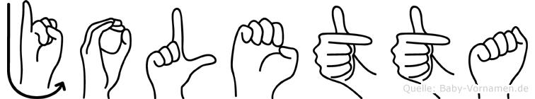 Joletta in Fingersprache für Gehörlose