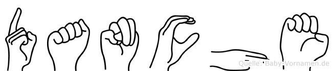 Danche im Fingeralphabet der Deutschen Gebärdensprache