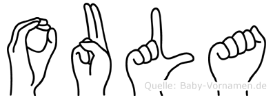 Oula in Fingersprache für Gehörlose