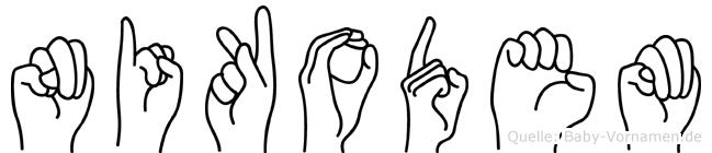 Nikodem in Fingersprache für Gehörlose