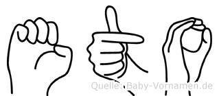 Eto in Fingersprache für Gehörlose