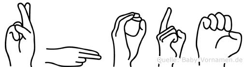 Rhode in Fingersprache für Gehörlose