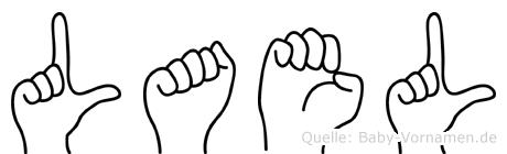 Lael im Fingeralphabet der Deutschen Gebärdensprache