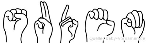 Sudem in Fingersprache für Gehörlose