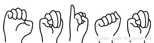 Enian in Fingersprache für Gehörlose