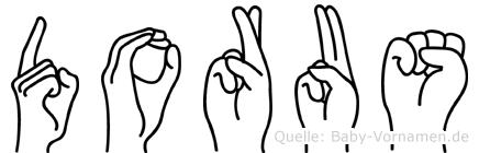 Dorus im Fingeralphabet der Deutschen Gebärdensprache