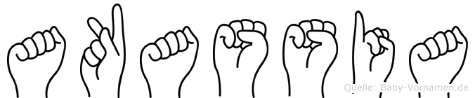 Akassia im Fingeralphabet der Deutschen Gebärdensprache