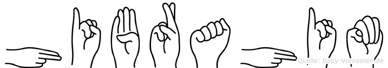 Hibrahim im Fingeralphabet der Deutschen Gebärdensprache