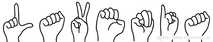Lavenia in Fingersprache für Gehörlose
