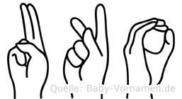 Uko im Fingeralphabet der Deutschen Gebärdensprache