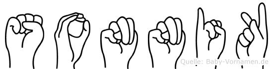 Sonnik im Fingeralphabet der Deutschen Gebärdensprache