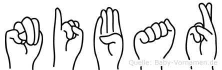 Nibar in Fingersprache für Gehörlose