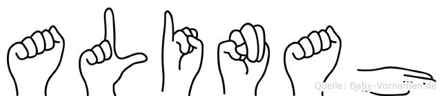 Alinah in Fingersprache für Gehörlose