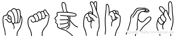 Matrick in Fingersprache für Gehörlose