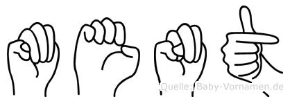 Ment im Fingeralphabet der Deutschen Gebärdensprache