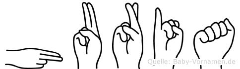 Huria in Fingersprache für Gehörlose