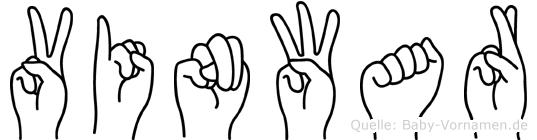 Vinwar in Fingersprache für Gehörlose