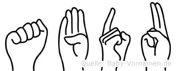 Abdu in Fingersprache für Gehörlose