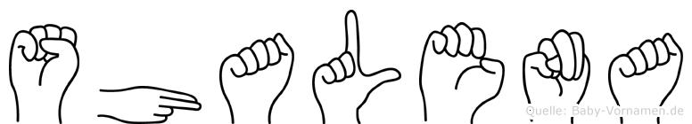 Shalena in Fingersprache für Gehörlose