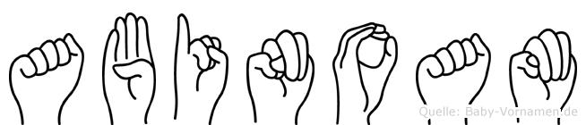 Abinoam in Fingersprache für Gehörlose