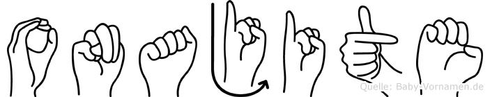 Onajite in Fingersprache für Gehörlose