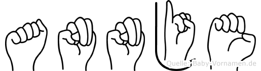 Annje im Fingeralphabet der Deutschen Gebärdensprache