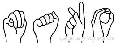 Mako in Fingersprache für Gehörlose