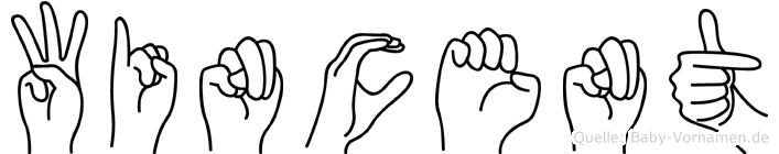 Wincent in Fingersprache für Gehörlose