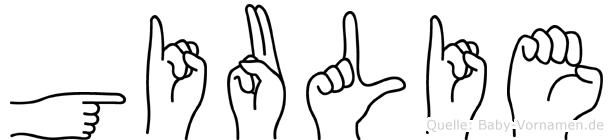 Giulie im Fingeralphabet der Deutschen Gebärdensprache