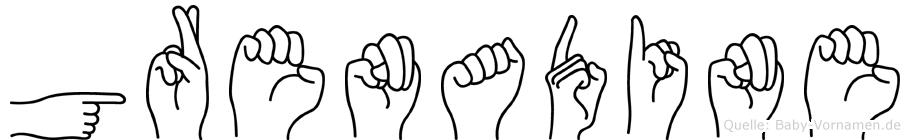 Grenadine in Fingersprache für Gehörlose