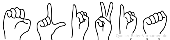 Elivia in Fingersprache für Gehörlose