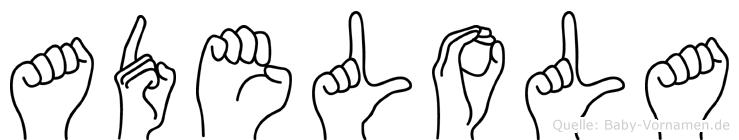 Adelola in Fingersprache für Gehörlose