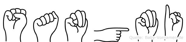 Sangmi im Fingeralphabet der Deutschen Gebärdensprache