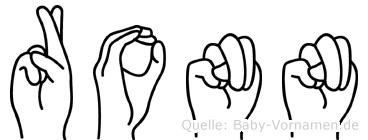 Ronn in Fingersprache für Gehörlose