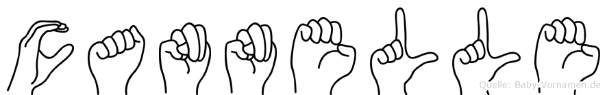 Cannelle in Fingersprache für Gehörlose