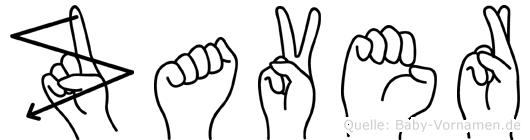 Zaver in Fingersprache für Gehörlose