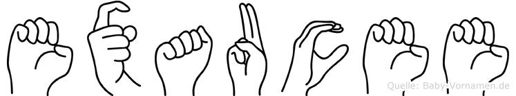 Exaucee in Fingersprache für Gehörlose