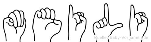 Meili in Fingersprache für Gehörlose