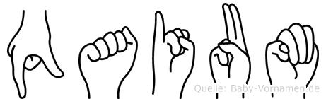 Qaium in Fingersprache für Gehörlose