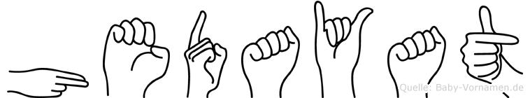 Hedayat in Fingersprache für Gehörlose
