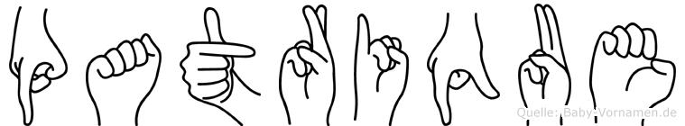 Patrique in Fingersprache für Gehörlose