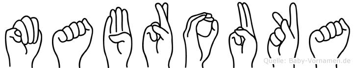 Mabrouka in Fingersprache für Gehörlose
