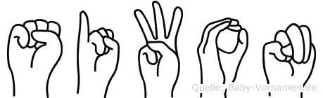 Siwon in Fingersprache für Gehörlose