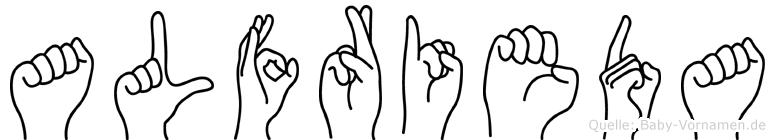 Alfrieda in Fingersprache für Gehörlose